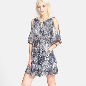 Free People Love Birds Cold Shoulder Mini Dress